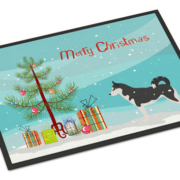 Siberian Husky Merry Christmas Tree Indoor or Outdoor Mat 18x27 BB2998MAT