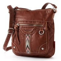 Unionbay Chevron Stripe Crossbody Bag