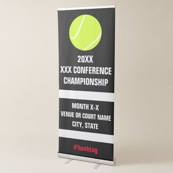 Tennis Conference Championship Tournament Signage Retractable Banner