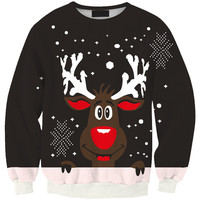 Print Christmas Lovely Pullover Hoodies [9600585743]