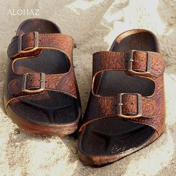brown buckle jandals® - pali hawaii sandals