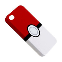 EXTRA TOUGH iPhone 4 Case iPhone 4s Case Hardshell Case Cover Pokemon Pokeball