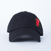 Rose Patched Denim Cap