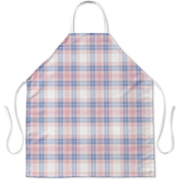 PINK AND BLUE BABY PLAID Apron By Northern Whimsy