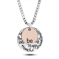 "YAN & LEI Hot Sale Two-Tone Sterling Silver ""Be"" Graffiti Charm Necklace, 22"""