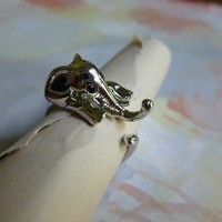Silver Elephant Ring Size 5-6