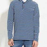 Hooded Stripe Henley