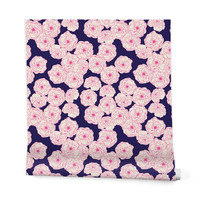 Joy Laforme Floral Sophistication In Navy Wrapping Paper