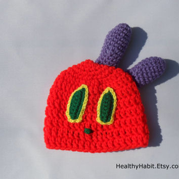 Caterpillar Hat on Etsy - Costume Hat - Infant, Baby, Child, Teen, or Adult - MADE TO ORDER