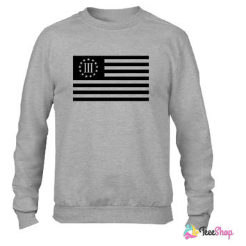 3 percenter flag Crewneck sweatshirtt