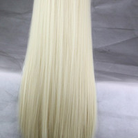 Synthetic Long Hair Afro Kinky Straight Blonde Wigs Heat Resistant Fiber Pelucas Cosplay Anime Costume Synthetic Long Hair