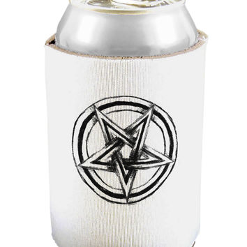 Inverted Pentagram Death Metal Star Can and Bottle Insulator Cooler