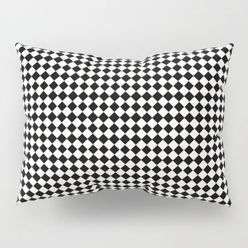 Diamonds black and white Pillow Sham by Becky Betancourt