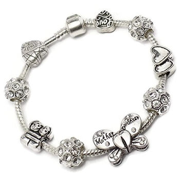 Mother Daughter Butterfly Charm Bracelet Pandora Troll Chamilia Style By Truly Charming