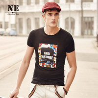 Summer Print Strong Character Pattern Innovative Black Short Sleeve England Style Men's Fashion T-shirts [7951209283]
