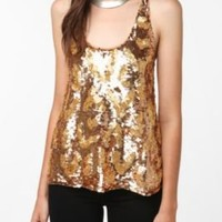 UrbanOutfitters.com > Dallin Chase Leopard Sequin Tank Top