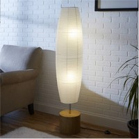 Mainstays Rice Paper Shade Floor Lamp, Bamboo Finish - Walmart.com