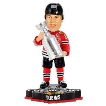Jonathan Toews Chicago Blackhawks 2013 NHL Stanley Cup Final Champions Player Trophy Bobblehead