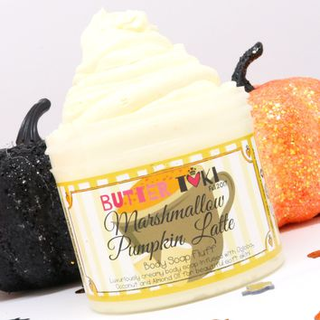 MARSHMALLOW PUMPKIN LATTE Whipped Body Soap Fluff 4oz