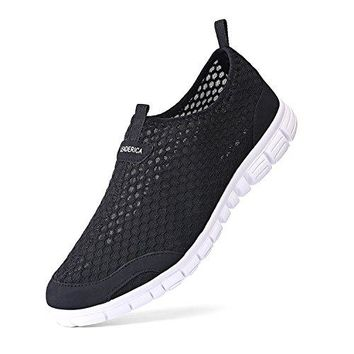 LEADERICA Womens Mesh Water Shoes Slip On Casual Beach Sneakers