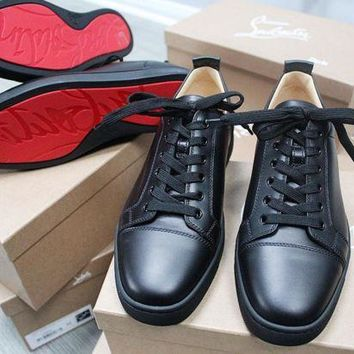 ONETOW Christian Louboutin junior flat calf black