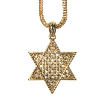 Star of David Necklace Crystal Judaica Charm ND26 Gold Tone Magen Israel Pendant Fashion Jewelry