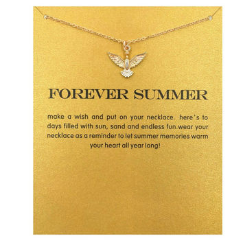 Hot Sale forever summer Love pigeon necklace gold plated Pendant necklace Clavicle Chains Statement Necklace Women Jewelry