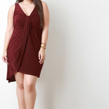 Sleeveless Draped Wrap Dress