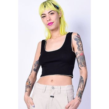 Linda Crop Top - Black
