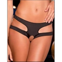 Women Sexy Hollow Out Panty Black