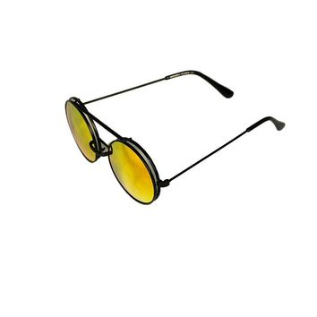 Flip up Round Teashades Sunglasses-Orange
