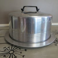 Cake Carrier Vintage Cake Cover Cake Plate Aluminum Regal Carrier Retor Kitchen Retro Cake Taker