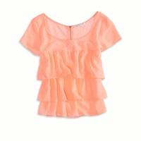 AE TIERED RUFFLE T-SHIRT