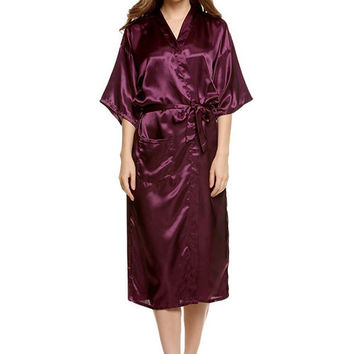 Women's Long Style Kimono Robe-5 Colors