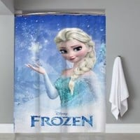 Princess Elsa Disney Frozen Shower Curtain Limited Edition