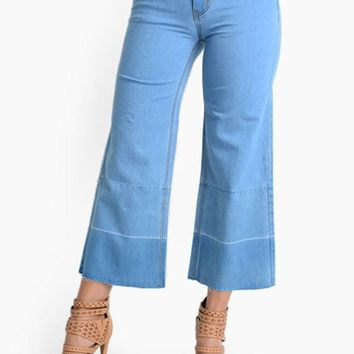 Women's Wide Denim Jeans RJB386 - C7F