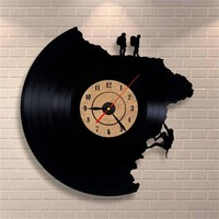 Rock Climbing 3D Vinyl Record Clock