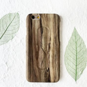 Creative Wooden Pattern Iphone 7 7 Plus Cover Case With Phone Stands