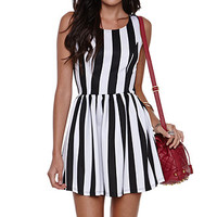 LA Hearts Striped Scuba Fit N Flare Dress at PacSun.com