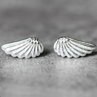 Angel Wing Stud Earrings Sterling Silver By Fashnin.com