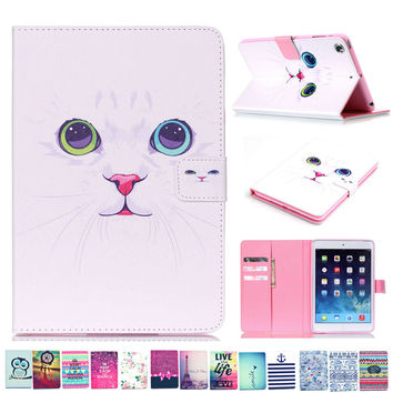 New Color Mix PU Leather Flip Case For Apple iPad Mini 1 2 3 Cases W/Stand Cover For ipad Mini 1 mini 2 mini 3 Pouch card slots