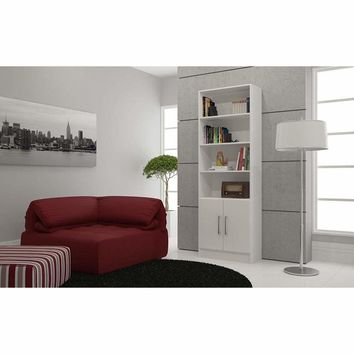 Practical Catarina Cabinet with 6- Shelves in White