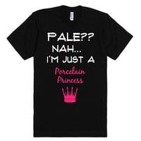 Pale-Unisex Black T-Shirt