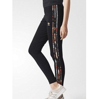 ADIDAS Women Fashion Print Sport Stretch Pants Trousers Sweatpants F