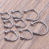 Body Piercing Jeweller Horseshoe Septum Piercing Nose Lip Ring Ear Smiley Bar 6-14mm choose 1pcs/lot