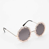 UO Love Lace Sunglasses- Gold One
