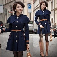 Fashion shawl jacket coat