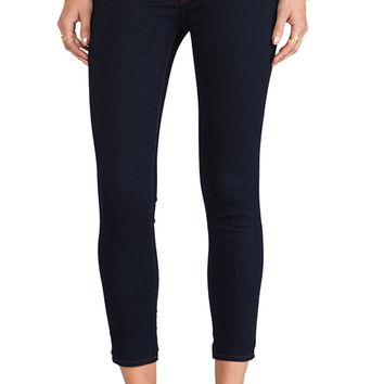 J Brand Mid Rise Capri in Ink