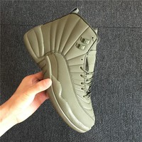 Air Jordan 12 Retro Green Sneaker Shoe