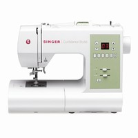 SINGER 7467S Confidence Stylist Sewing Machine with Bonus Fashion Presser Feet
